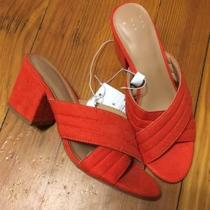 Red chunky A New Day heels